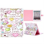 Fashion etui med magnetlukning til iPad 2/3/4 - All love